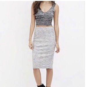 3/$35 Gray Pencil Skirt